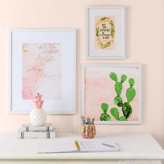 Brighten Up Your Space With Blush Wall Decor! Frame Wall Decor, Frames On  Wall