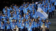 Argentina flag, London Olympics 2012