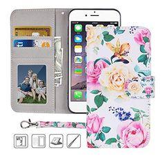 579b3b4789 iPhone 6S Wallet Case,iPhone 6 Wallet Case, Premium PU Leather Flip Fo –