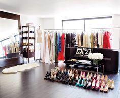 Rachel Zoe's closet