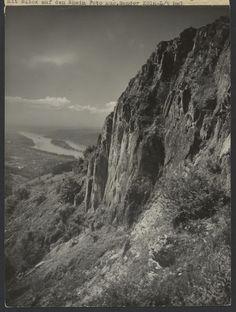 Siebengebirge - area of rocks on the Wolkenburg with view of the Rhine (Siebengebirge Felspartie an der Wolkenburg mit Blick auf den Rhein); August Sander (German, 1876 - 1964); June 1937; Gelatin silver print; 23 x 17.1 cm (9 1/16 x 6 3/4 in.); 84.XM.126.430; Copyright: © J. Paul Getty Trust