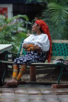 Panama City...these women make the most beautiful textiles. Loved walking through the open air markets when we were here.