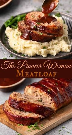 This Pioneer Woman Meatloaf Recipe is the best you'll ever try! The entire loaf . This Pioneer Woman Meatloaf Recipe is the best you'll ever try! The entire loaf is wrapped in bacon and baked to perfection, and it freezes well for future meals! Crock Pot Recipes, Beef Recipes For Dinner, Meat Recipes, Gourmet Recipes, Cooking Recipes, Parmesan Recipes, Amish Recipes, Meatball Recipes, Sauce Recipes