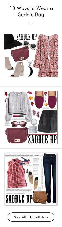"""13 Ways to Wear a Saddle Bag"" by polyvore-editorial ❤ liked on Polyvore featuring saddlebag, waystowear, Carolina Glamour Collection, Monki, H&M, Vince, Warehouse, saddleup, Fendi and Chamak by Priya Kakkar"