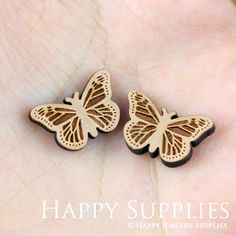 DIY Laser Cut Wooden Butterfly Charms For Jewelry Making Supplies