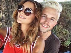 In love! Stefanie Giesinger postete dieses Liebes-Selfiemit Marcus Butler.