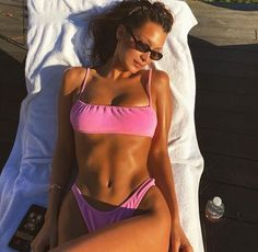 2020 Women Swimsuits Bikini Sustainable Bathing Suits Shaping Underwear Cold Shoulder One Piece Swimsuit Colorful Bathing Suits Push Up Bikini, Bikini Modells, Pink Bikini, Bikini 2018, Pink Swimsuit, Bikini Beach, Swimsuits 2017, Women Swimsuits, Corps Pour Bikini