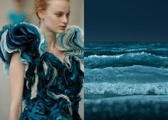 Mini Mood Board: Making Waves. Felicity Brown ruffled dress inspired by nature