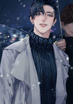 n ( - Anime & Manga Hot Anime Boy, Dark Anime Guys, Cool Anime Guys, Handsome Anime Guys, Anime Boys, Manga Anime, Manga Boy, Anime Boy Zeichnung, Anime Kunst