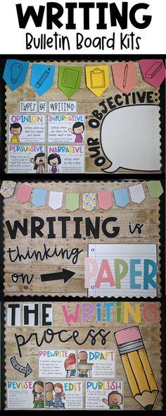 3rd Grade Writing, Writing Classes, 4th Grade Reading, Career Bulletin Boards, September Bulletin Boards, Information Bulletin Boards, Writing Station, Informational Writing, Future Career