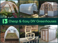 18 DIY greenhouse tutorials and plans. There& a low-cost homemade greenhouse for everyone, from small backyard greenhouses to a 300 square foot greenhouse. Homemade Greenhouse, Backyard Greenhouse, Greenhouse Plans, Greenhouse Wedding, Small Greenhouse, Outdoor Projects, Garden Projects, Container Gardening, Vegetable Gardening