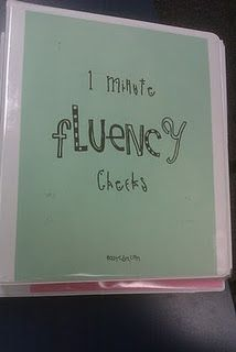 Go to easycbm.com to get 1 minute fluency checks by grade level!!  AWESOME!!