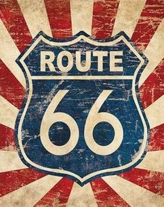 Route 66 Retro Sign Metal Vintage Road Plate Car Decor Plate Automobile Wall Poster For Shop Pub Vintage, Vintage Tin Signs, Vintage Labels, Vintage Kitchen, Route 66 Sign, Route 66 Decor, Route 22, Etiquette Vintage, Geile T-shirts