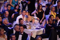 Pride of Britain - Simon Cowell enjoying an intimate moment with Lauren Silverman