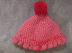 Crochet Cherry on Top Baby Hat by craftheart on Etsy