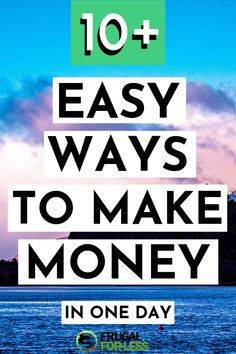 10 easy ways to make money in one day. The best part about these methods is that they're all quick and easy to implement. Great for stay at home mom jobs, college students, teens or anyone looking to engage in a side hustle for extra cash. Make Cash Fast, Quick Cash, Make Money Fast, Ways To Save Money, Money Tips, Make Money From Home, Make Money Online, Survey Sites That Pay, Legit Work From Home