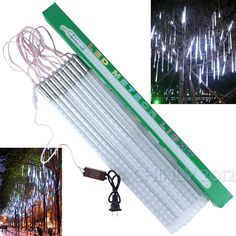 Cheap string lights, Buy Quality led string lights directly from China christmas lights Suppliers: LED Christmas Xmas Lights Snowfall Tube Meteor Shower Rain Tube LED String Light Christmas Lights Outdoor Led Christmas Lights, Holiday Lights, Outdoor Wedding Decorations, Outdoor Christmas Decorations, Decorative Night Lights, Led Tubes, Rainfall Shower, Meteor Shower, Shower Set
