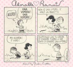 """Adorable Peanuts nr.3 - Suppongo che tu creda di essere furbo a... Ancora un momento """"Adorable Peanuts"""", per sorridere un pò... http://graficscribbles.blogspot.it/2014/07/lucy-snoopy-linus-Charlie-Brown.html"""