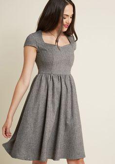 Banned Bold Me Over A-Line Midi Dress in Herringbone. Frock DesignFashion  IdeasFashion OutfitsWomens ... beea91b8729e