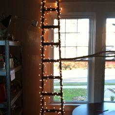 Vintage woods men's store ladder = Christmas tree