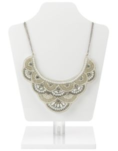 Grace Pearl And Crystal Embellished Necklace | Nude | Accessorize