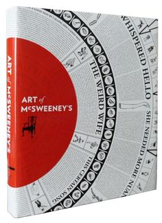 """Book cover art: The stunning front cover design of """"The Art of McSweeney's"""""""