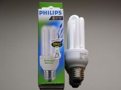2 x Philips Tageslichtlampe Daylight Energiesparlampe Sparlampe 14W E27 6500K