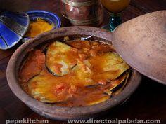 tajine berenjenas Couscous, Vegan Vegetarian, Vegetarian Recipes, No Salt Recipes, Asian Recipes, Ethnic Recipes, Kitchen Recipes, Diy Food, Wok