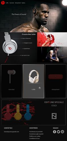 Landing page di Cuffie Beats by Dr.Dre