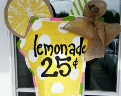 Sweet Summer burlap door hanger by NikkiDsCreations on Etsy