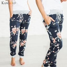2017 Novas Mulheres Harem Pants Floral Impresso Moletom Casuais Calças Compridas de Alta Qualidade Da Moda Senhora Laço Elástico Na Cintura Solta A33