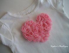 heart using rose trim...cute!