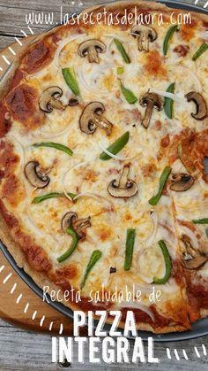 Aprende a preparar la mejor pizza casera con harina integral, te enseño como hacer la masa para pizza, la salsa y todo lo que necesitas para disfrutar de este platillo de forma saludable :D