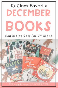 15 must read books for December. Love these holiday book pics for 2nd grade! TheAppliciousTeacher.com