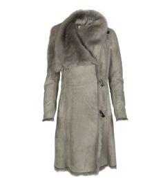 Allsaints Caradon sheepskin / shearling pelt coat.