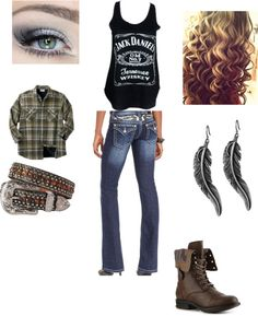 """truck yeah"" by alexisierra on Polyvore...no earrings, different boots"