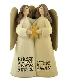 Look what I found on #zulily! 'Friend Memories Made' Angels with Star Figurine by Blossom Bucket #zulilyfinds