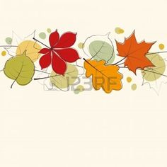 hojas de otoño dibujo: Hojas de otoño fondo de la tarjeta