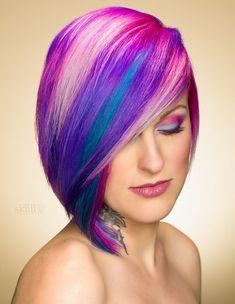 Arcoíris cabello corto