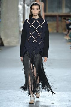 fringe skirt is one of our favourite looks of the collection. #SS15 #NYFW #MBFW