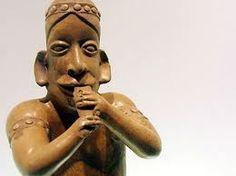 Flautista indígena precolombino