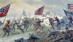 The High Tide by Mort Kunstler - Gettysburg, July 3, 1863  #mortkunstler #gettysburg