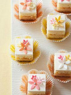 Flower-Power Petits Fours  http://www.lhj.com/recipes/dessert/cakes/sweet-spring-cakes/?page=2