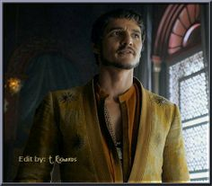 Oberyn Martell, the Red Viper, from Dorne. Season 4, episode 1, Two Swords.....Pedro Pascal is totally exceeding my expectations. the Red Viper is one of my favorite characters and he IS NOT disappointing me at all!!!!