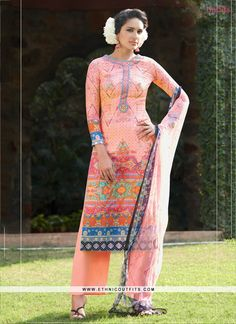 Winsome Digital Print Work Multi Colour Designer Suit  Email- support@ethnicoutfits.com Call - +918140714515 What's app/Viber- +918141377746
