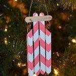 Popsicle Sled Ornament
