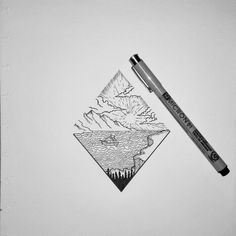 Mountain and sea Long vacation #draw #drawing #art #mountain #sea #healt #adventure #photography #sketch #artist