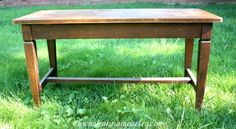 Upcycled Piano Bench with French Stencil