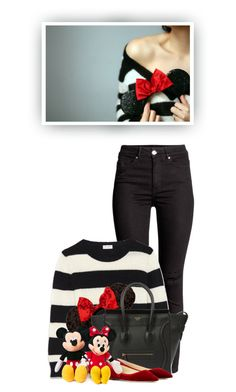 """""""Take Me To Disney World!"""" by hollowpoint-smile ❤ liked on Polyvore featuring Yves Saint Laurent, Disney, CÉLINE, Jimmy Choo, women's clothing, women, female, woman, misses and juniors"""