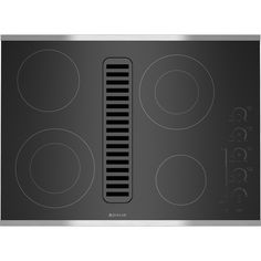 """Electric Radiant Downdraft Cooktop with Electronic Touch Control, 30"""" 